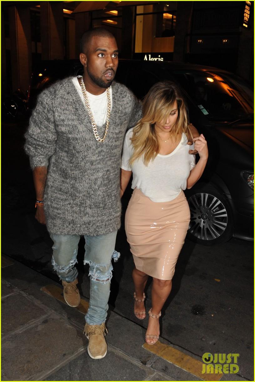 kim kardashian kanye west parisian dinner date 172963319