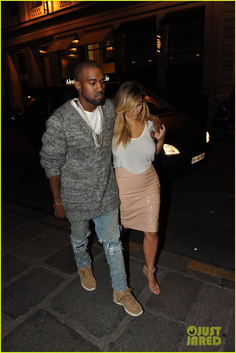 kim kardashian kanye west parisian dinner date 182963320
