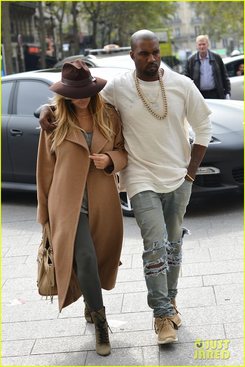 kim kardashian kanye west step out together in paris 132961535