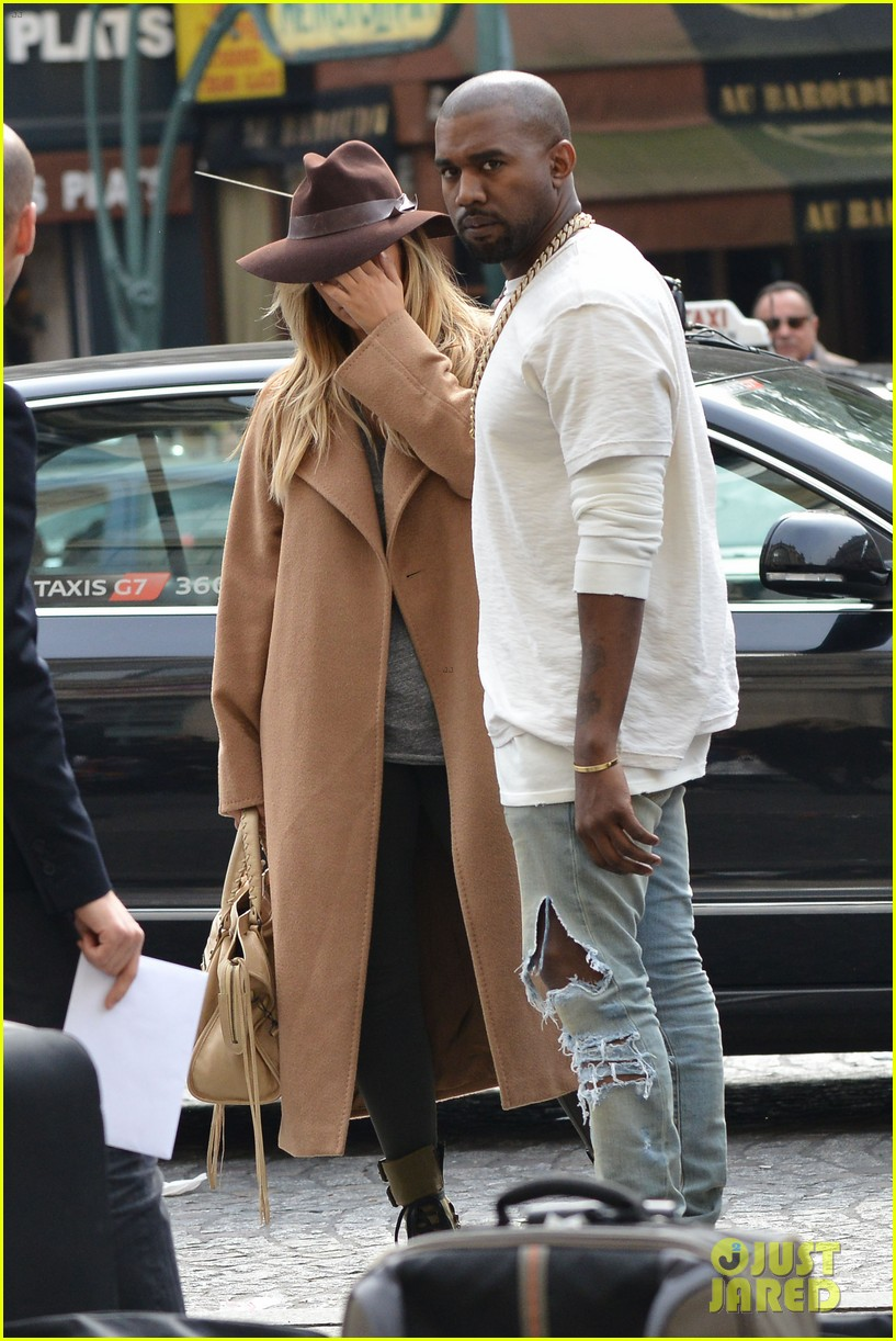kim kardashian kanye west step out together in paris 152961537
