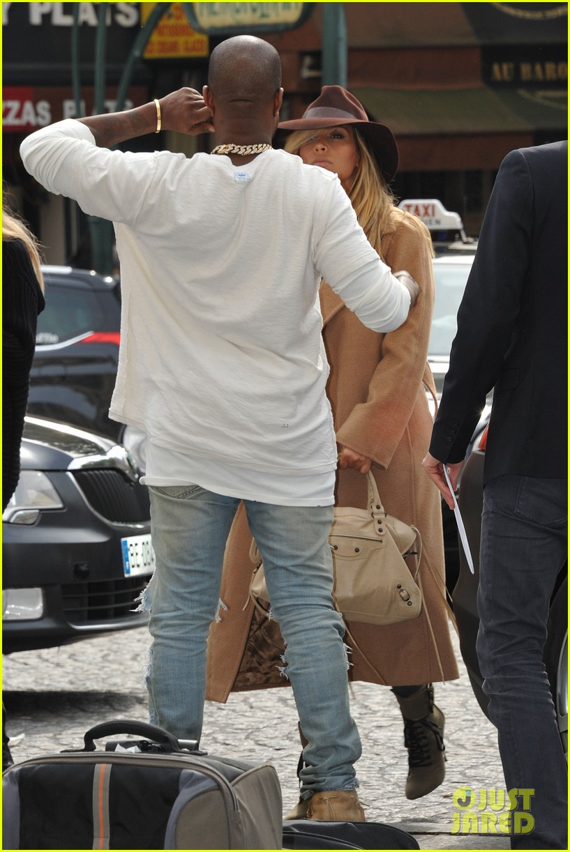kim kardashian kanye west step out together in paris 262961548