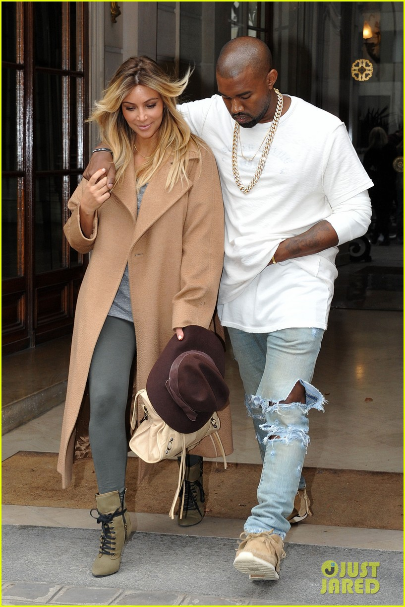 kim kardashian kanye west step out together in paris 292961551