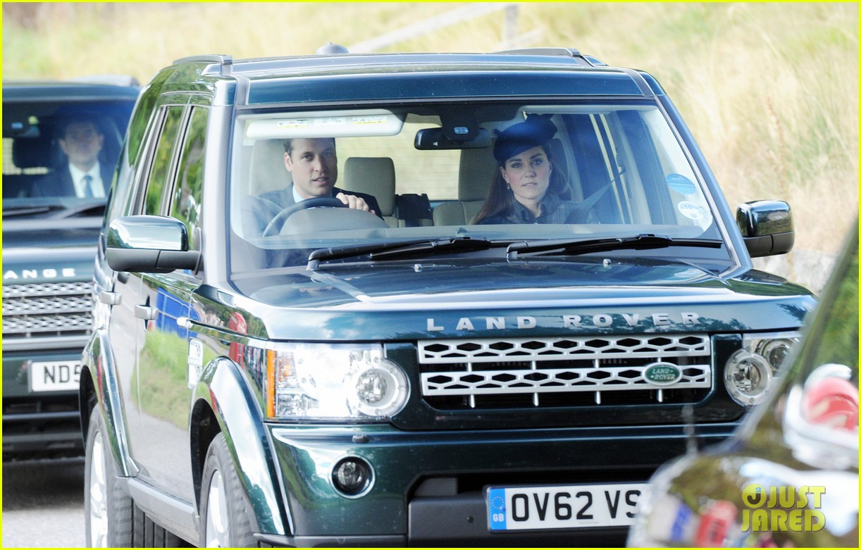 kate middleton prince william drive away after church 02