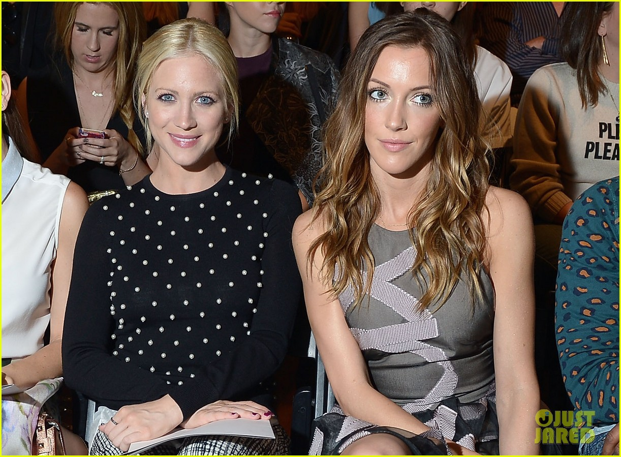 katie cassidy brittany snow front row at lela rose fashion show 032947050