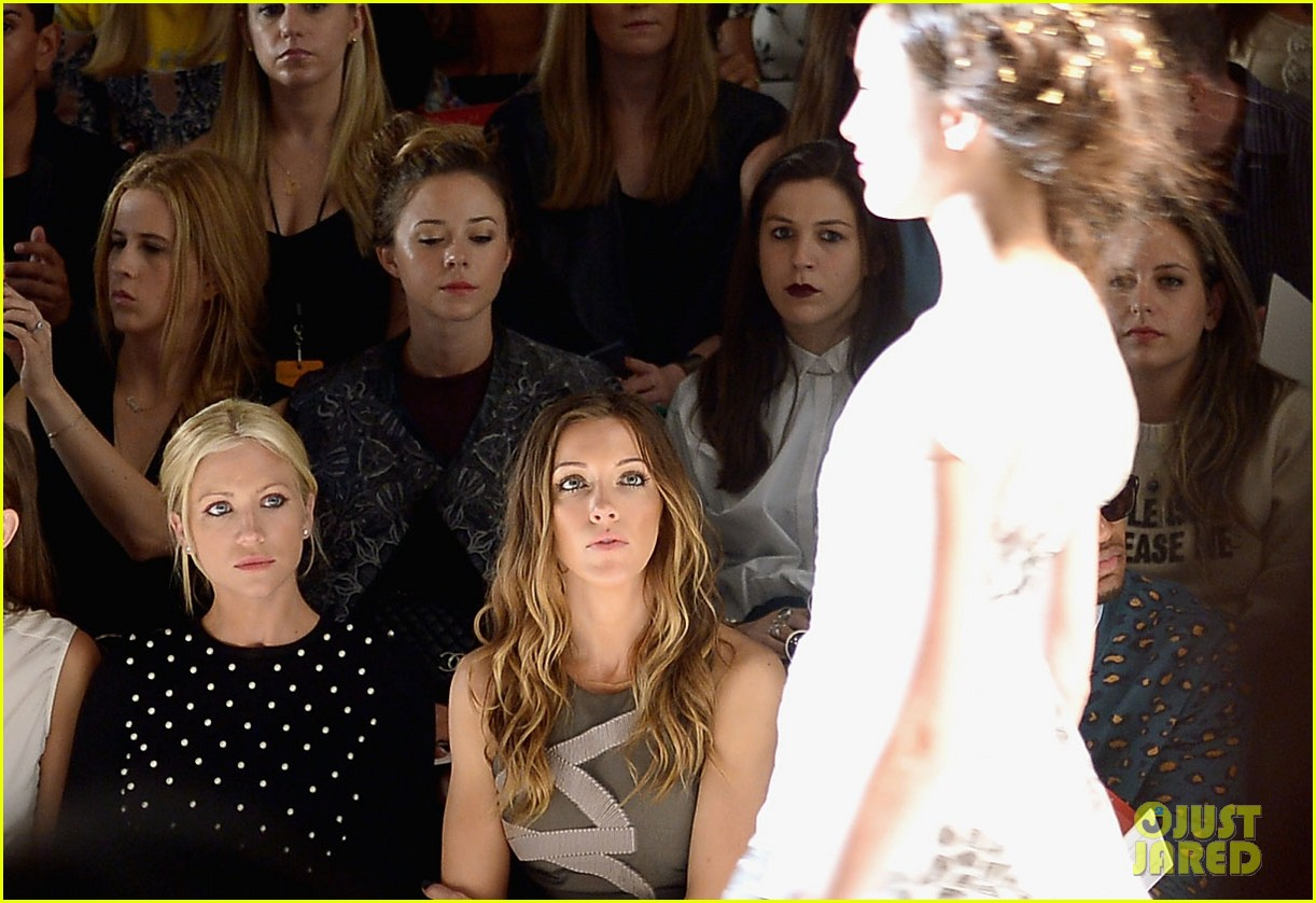 katie cassidy brittany snow front row at lela rose fashion show 092947056