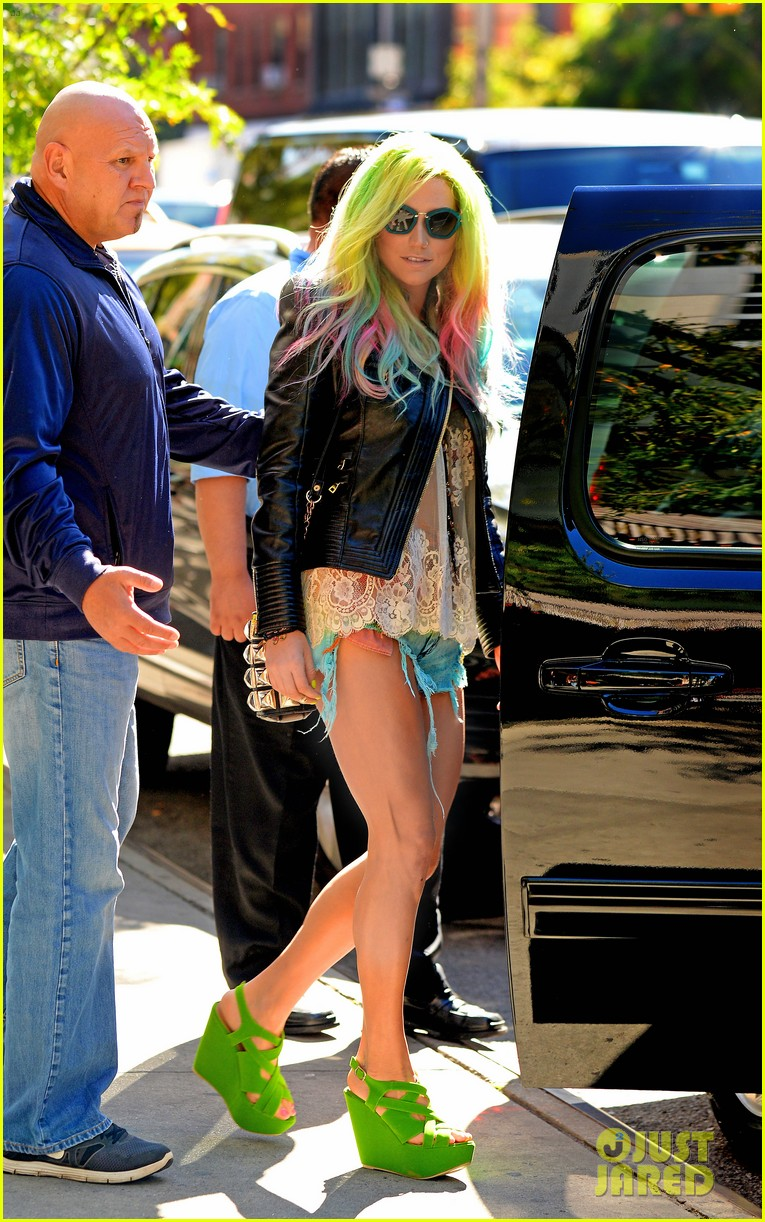 kesha multi colored hair for rhode island concert 022959743
