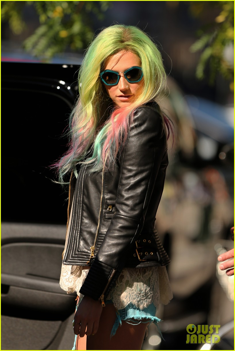 kesha multi colored hair for rhode island concert 042959745