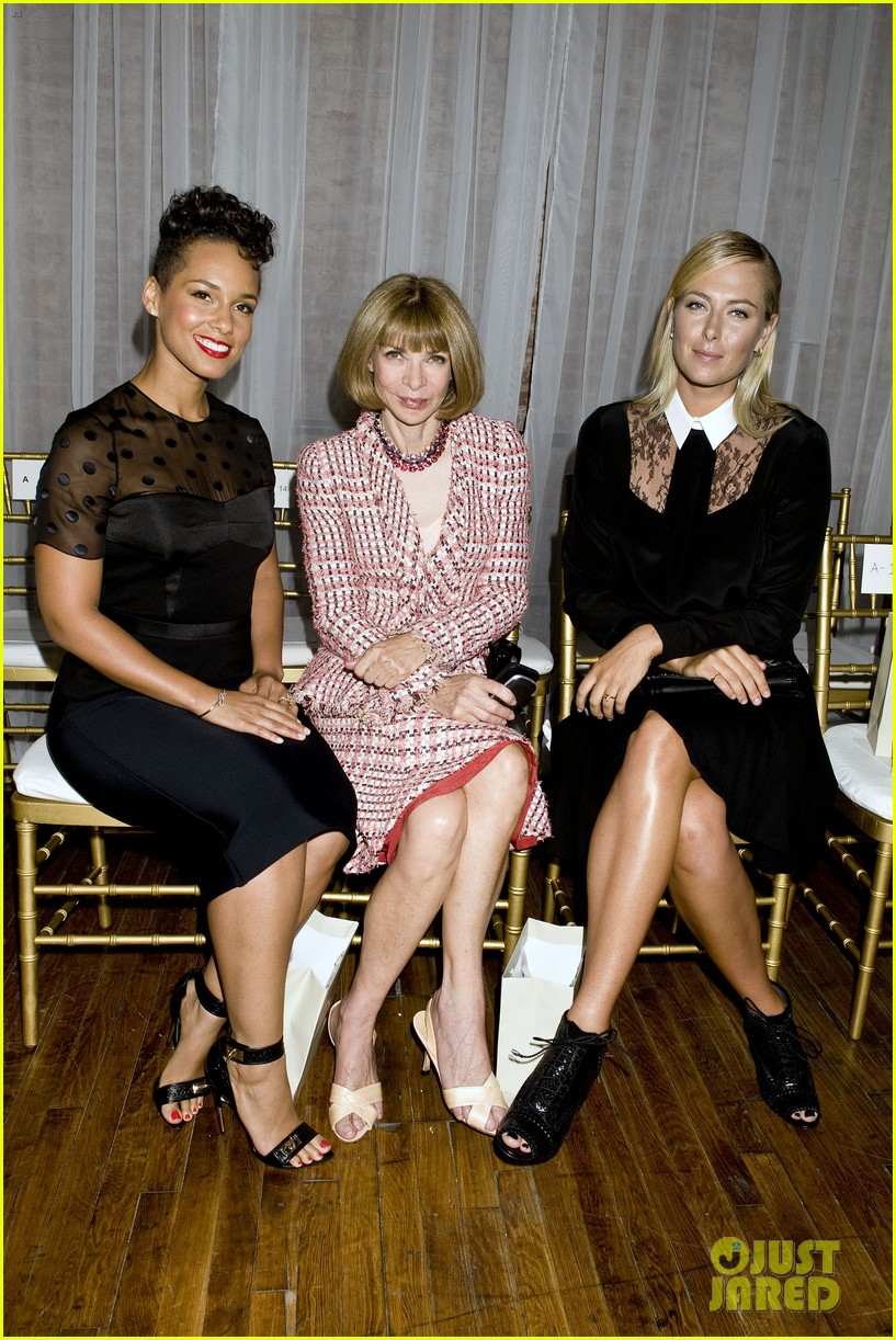 alicia keys maria sharapova jason wu fashion show 032945212