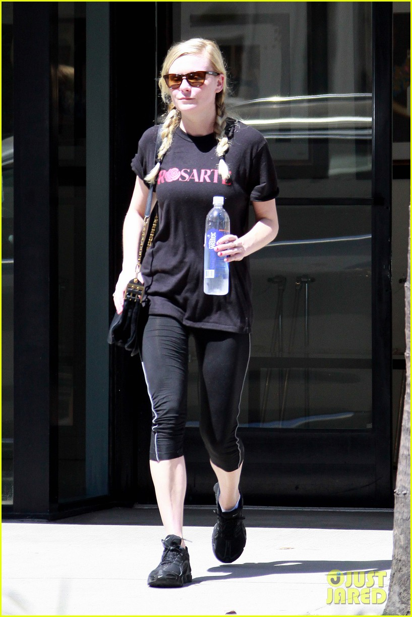 kirsten dunst hits the tracy anderson gym 082946858