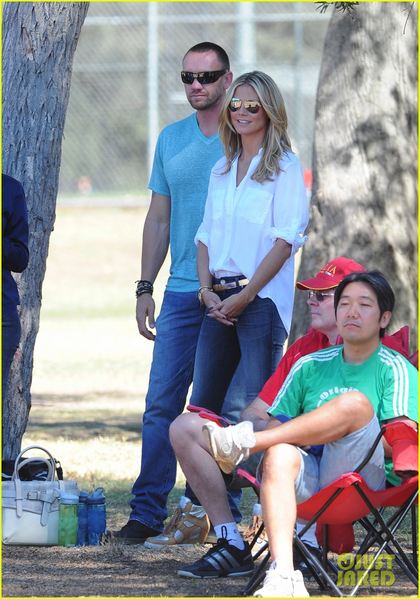 heidi klum tends to henry bloody nose soccer game 202962702