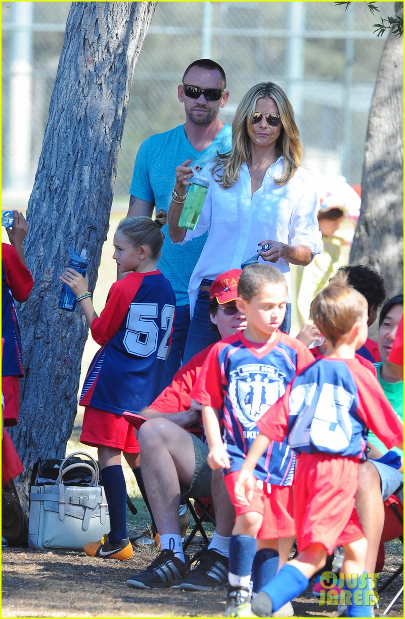 heidi klum tends to henry bloody nose soccer game 342962716