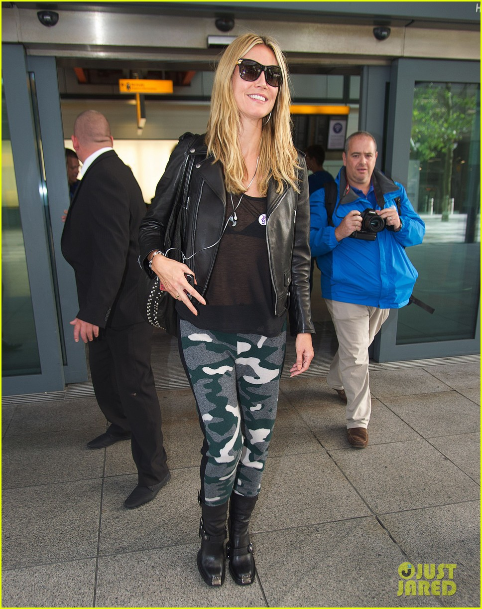 heidi klum sheer heathrow airport arrival 012959725
