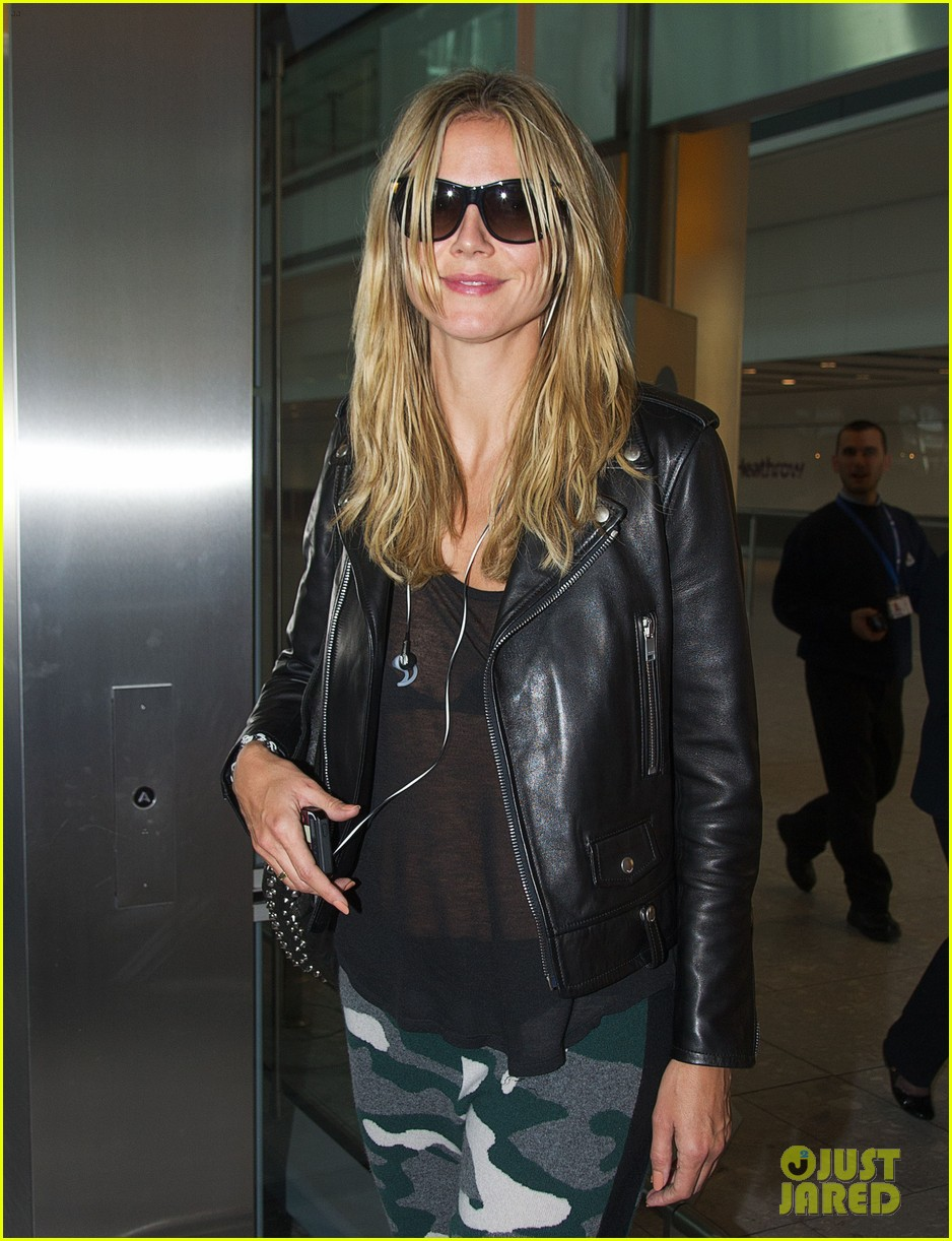 heidi klum sheer heathrow airport arrival 022959726