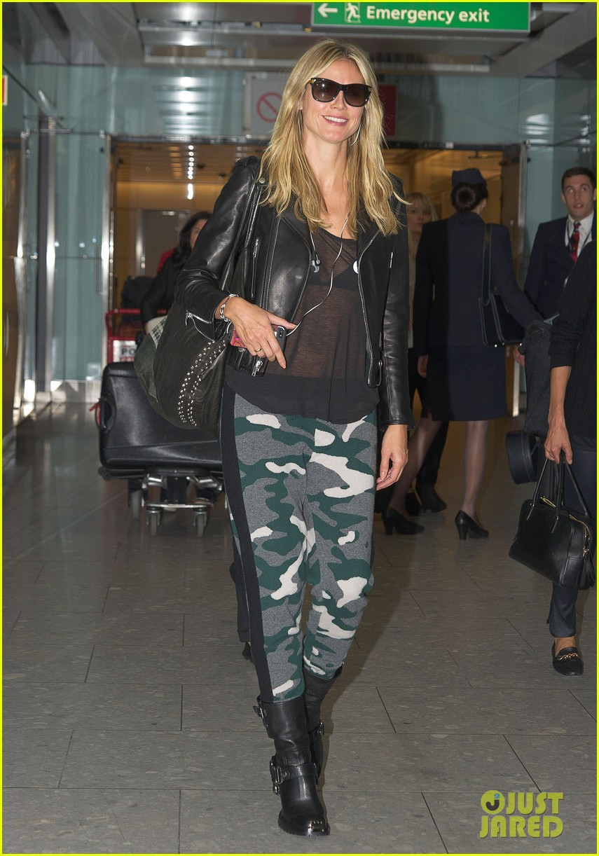 heidi klum sheer heathrow airport arrival 07