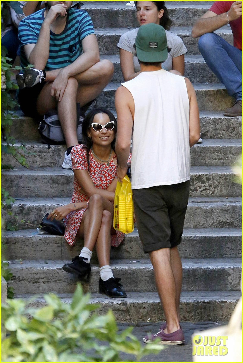 zoe kravitz penn badgley back together in rome 052958554