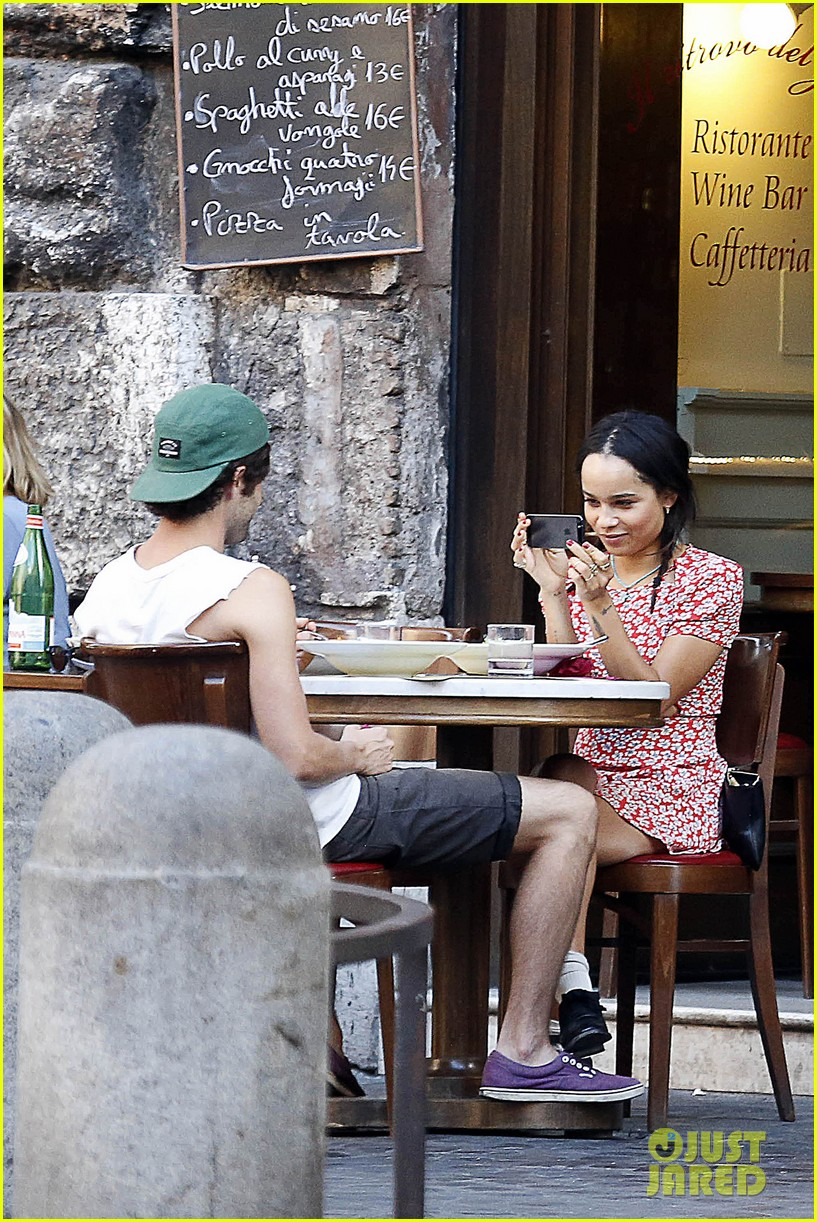 zoe kravitz penn badgley back together in rome 162958565