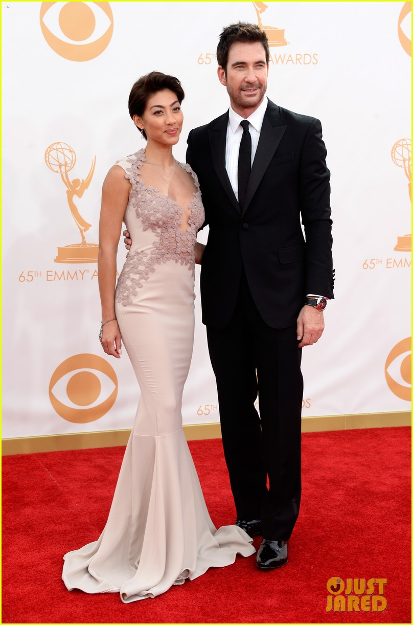 jessica lange dylan mcdermott emmys 2013 red carpet 012958312