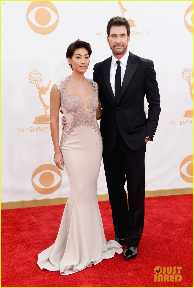 jessica lange dylan mcdermott emmys 2013 red carpet 092958320