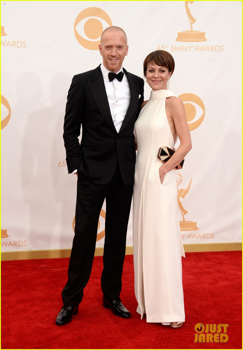 damian lewis emmys 2013 red carpet with helen mccrory 022958344