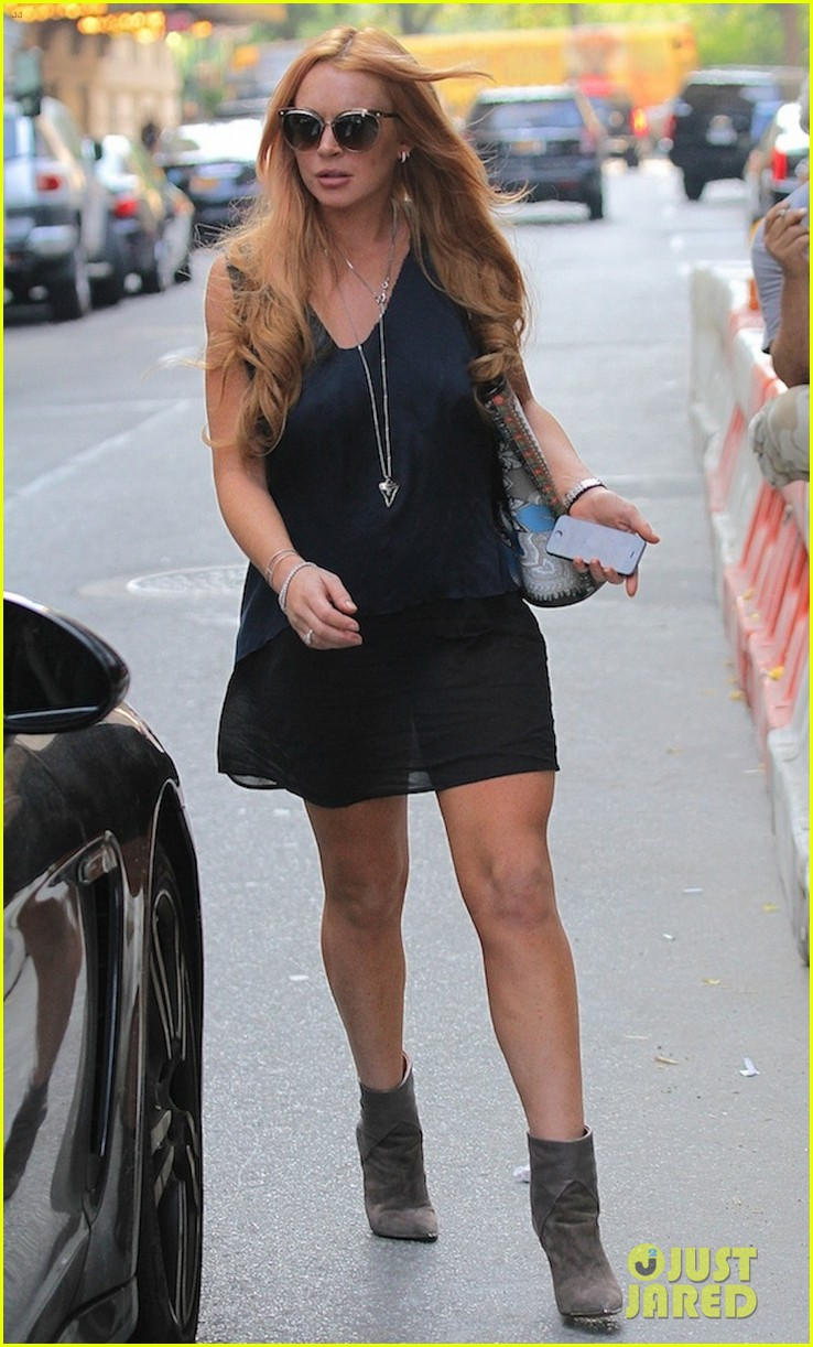 lindsay lohan proenza schouler purple party 102950663