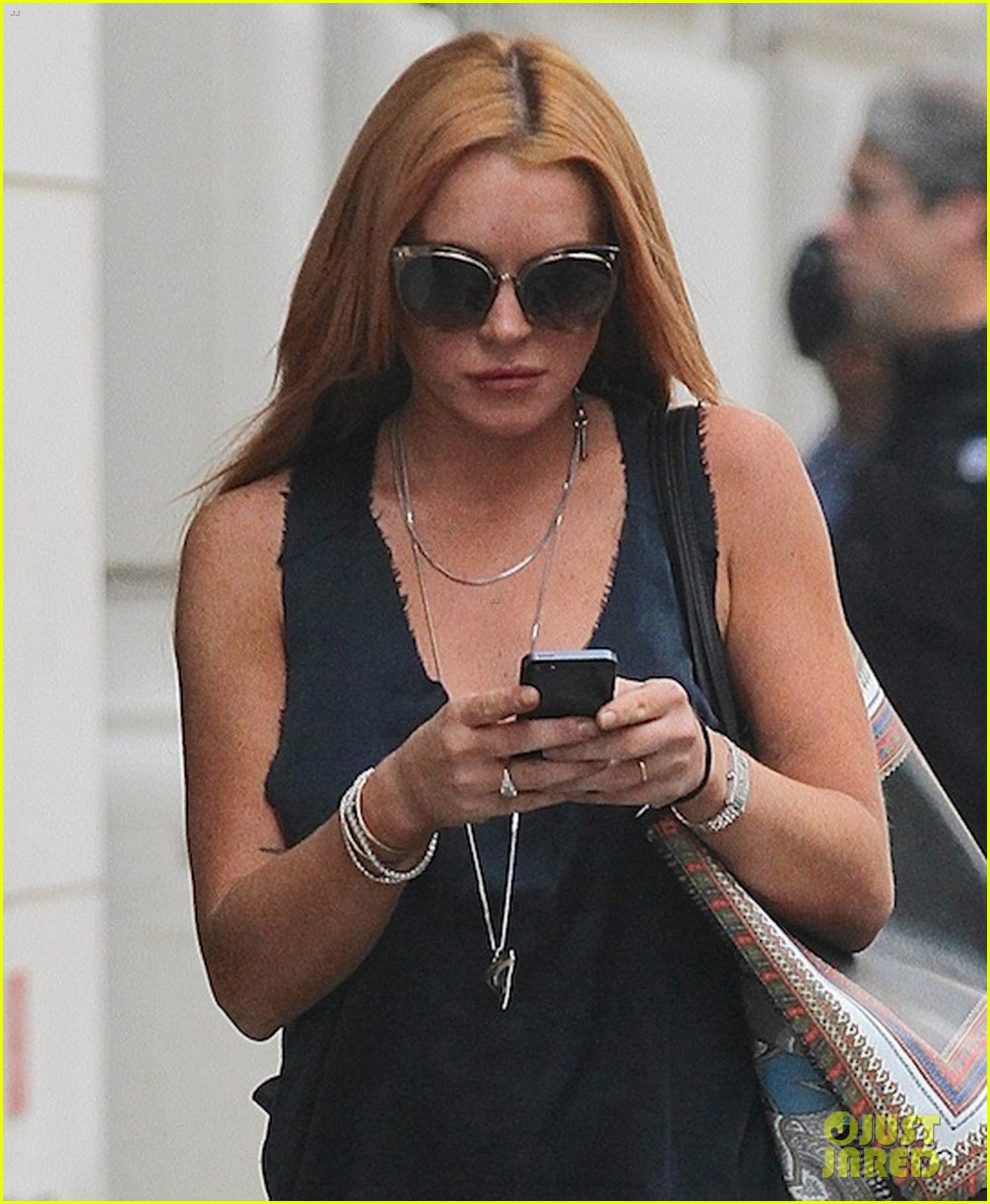 lindsay lohan proenza schouler purple party 112950664