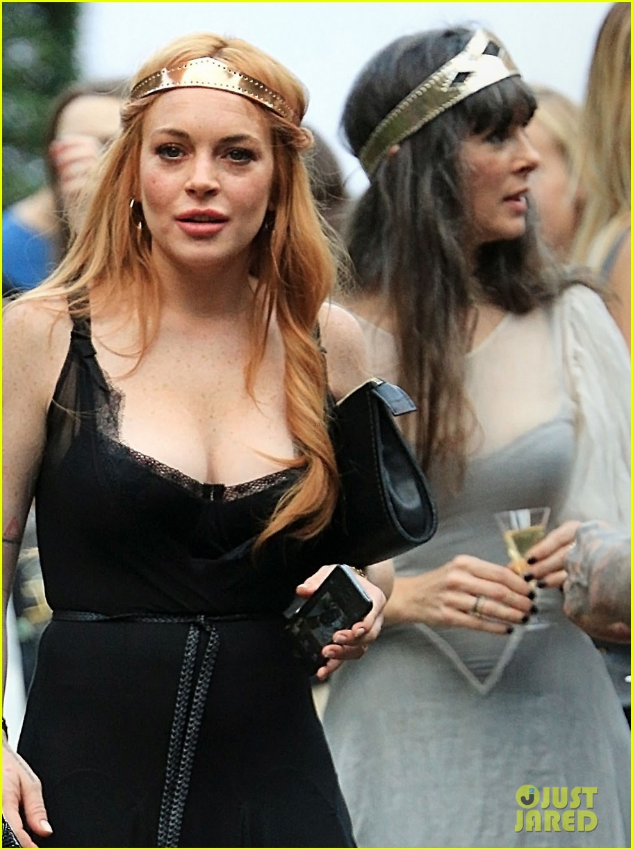 Lindsay Lohan Supports Sister Aliana At Saints Of The Zodaic