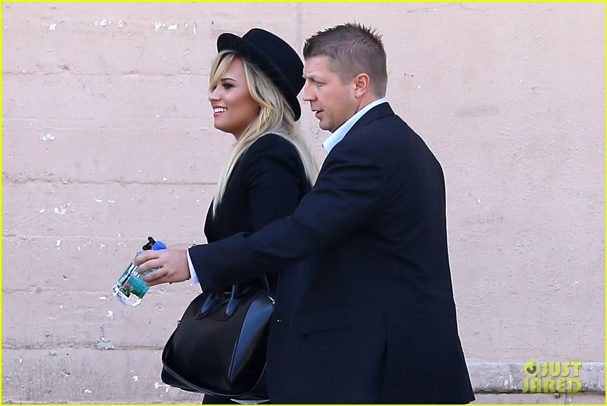 demi lovato x factor weekend taping with paulina rubio 092948156