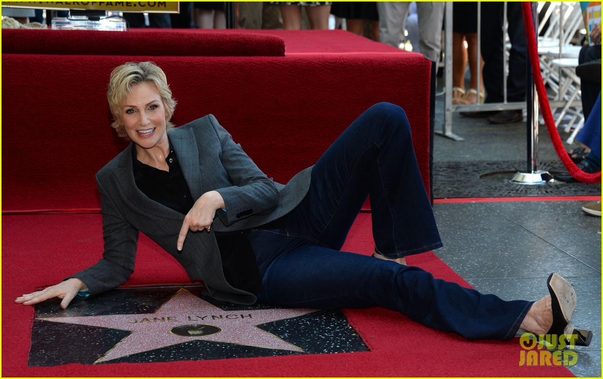 jane lynch receives star on hollywood walk of fame 032943837