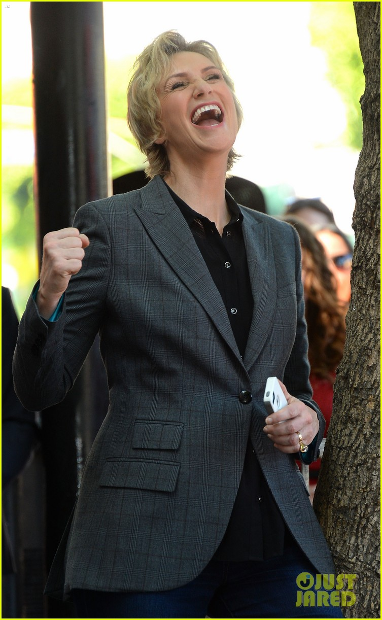 jane lynch receives star on hollywood walk of fame 102943844