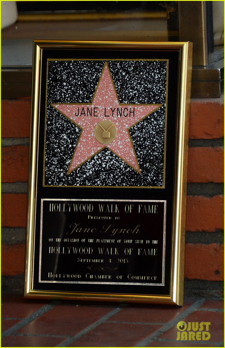 jane lynch receives star on hollywood walk of fame 122943846