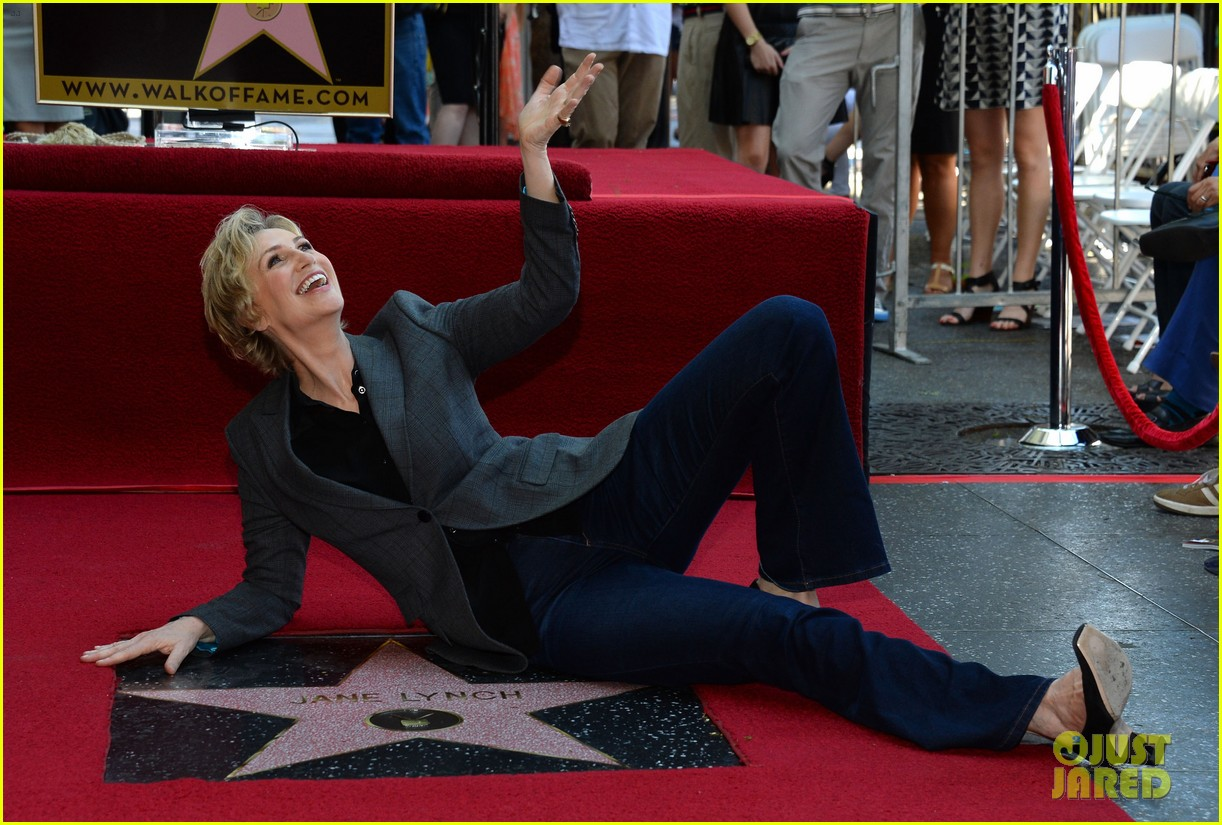 jane lynch receives star on hollywood walk of fame 132943847