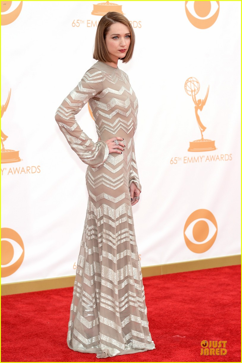 kate mara kristen connolly emmys 2013 red carpet 08