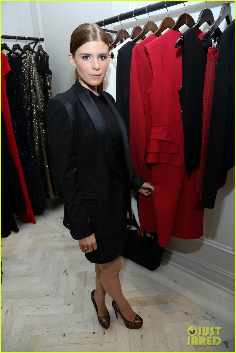 kate mara carly rae jepsen badgley mischka store opening 102950040