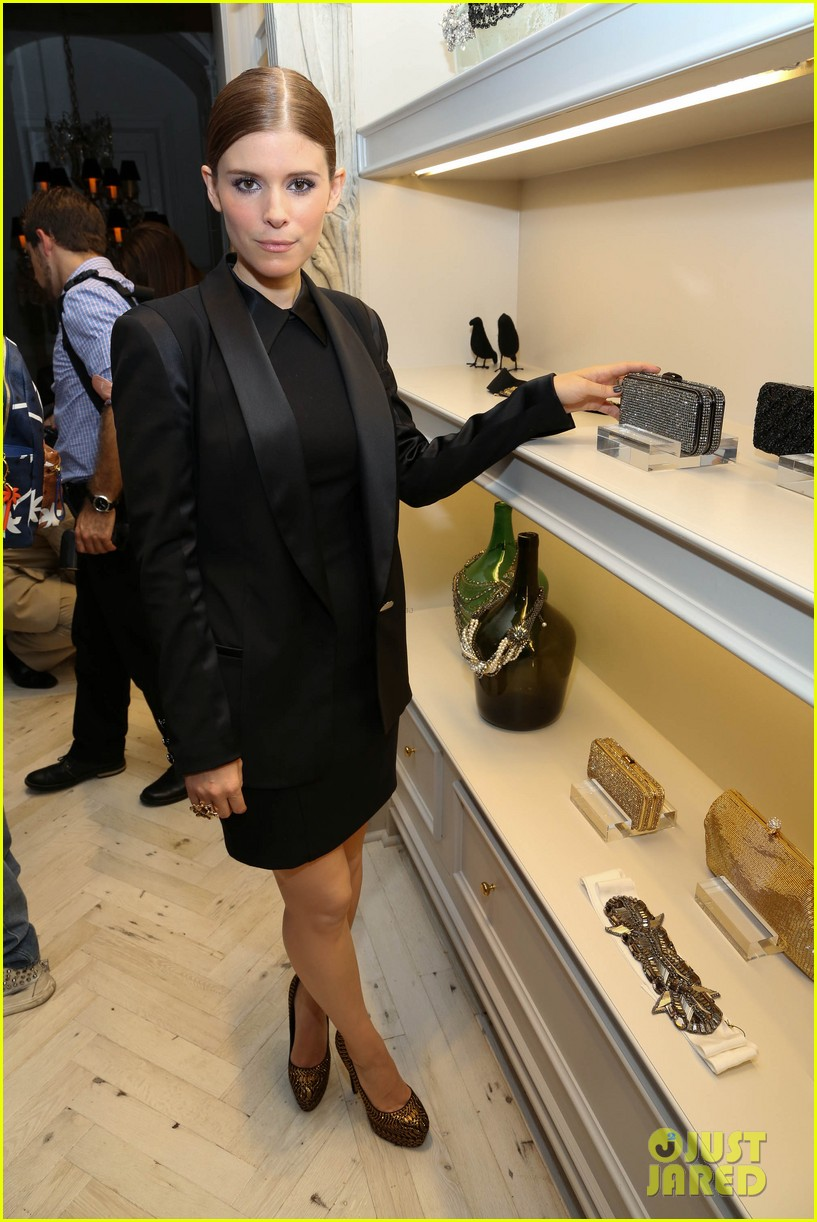 kate mara carly rae jepsen badgley mischka store opening 11