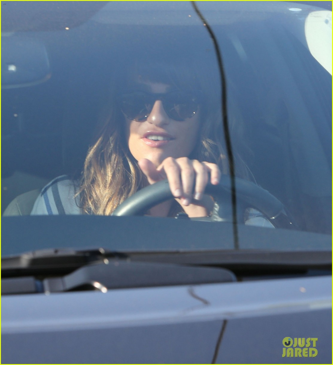 lea michele keeps cory monteith close at the hair salon 132955687