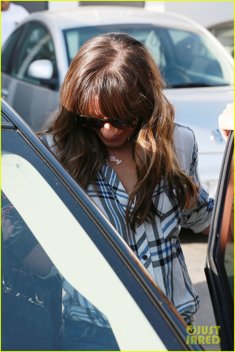 lea michele keeps cory monteith close at the hair salon 182955692