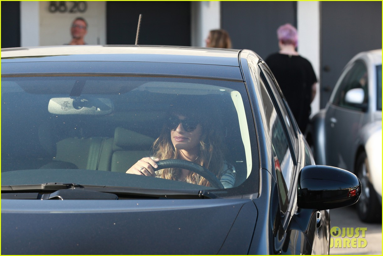 lea michele keeps cory monteith close at the hair salon 232955697