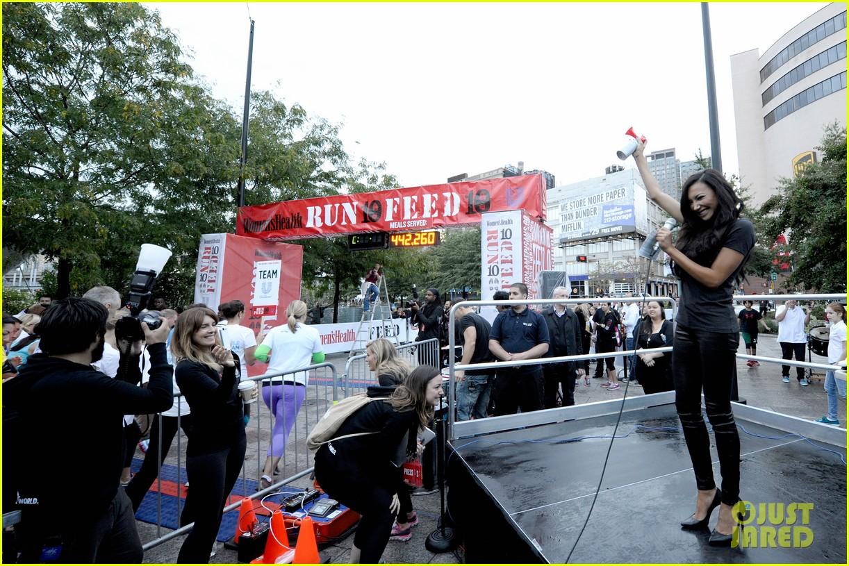 naya rivera womens health 10k nyc race 092957606