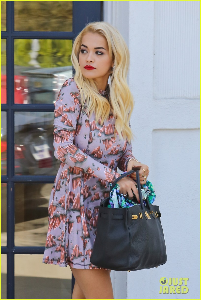 rita ora visits the salon after studio time with calvin harris 132955923
