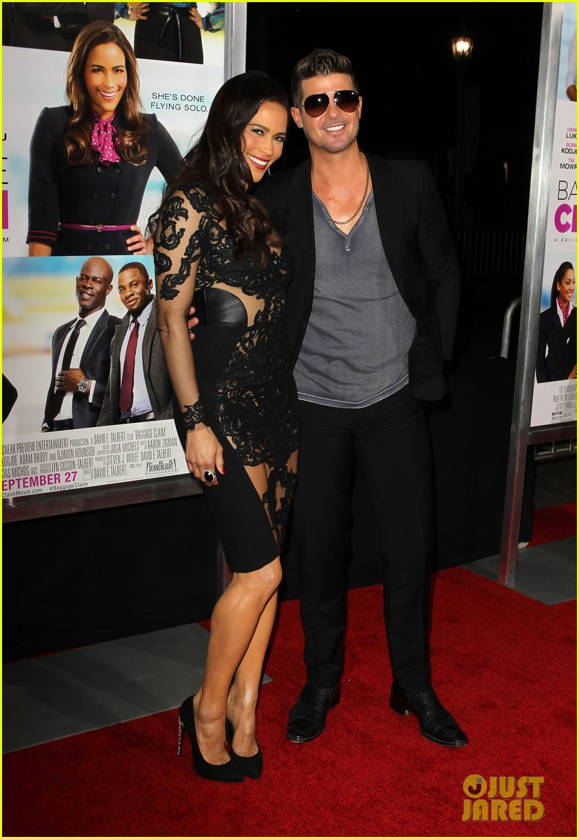 paula patton baggage claim premiere with robin thicke 112960170