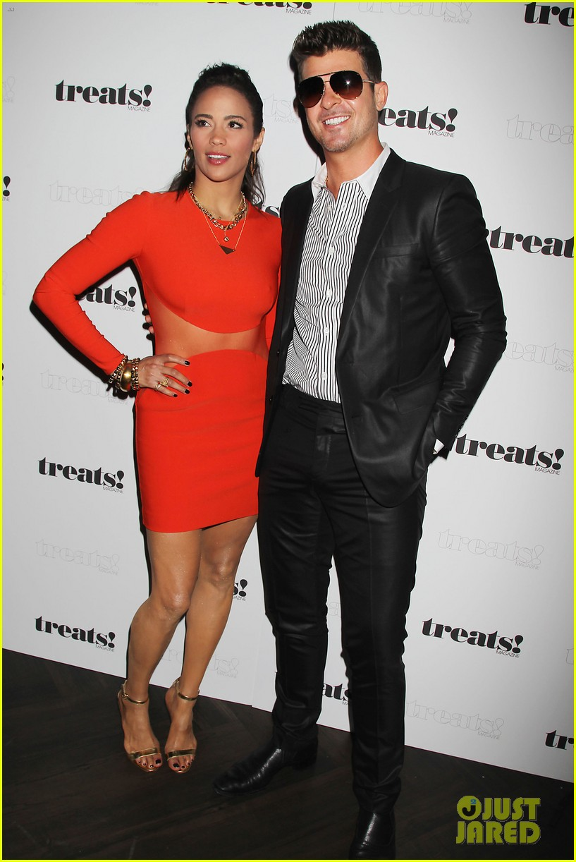paula patton kisses robin thicke at his album release party 012944318