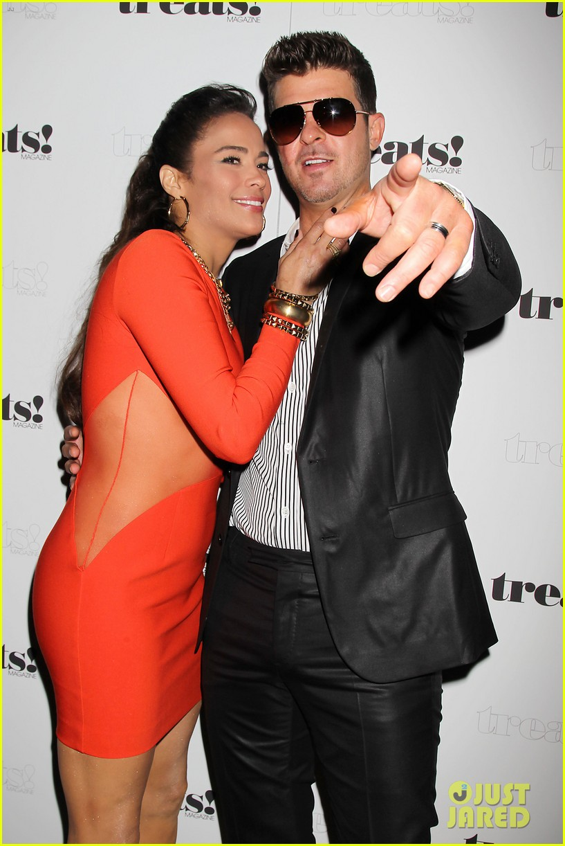 paula patton kisses robin thicke at his album release party 062944323