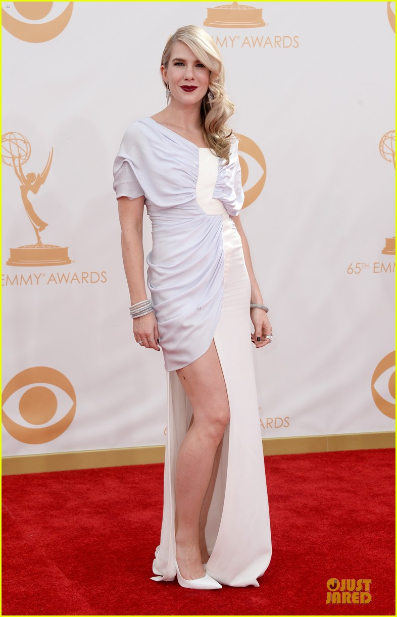 evan peters lily rabe emmys 2013 red carpet 032958021