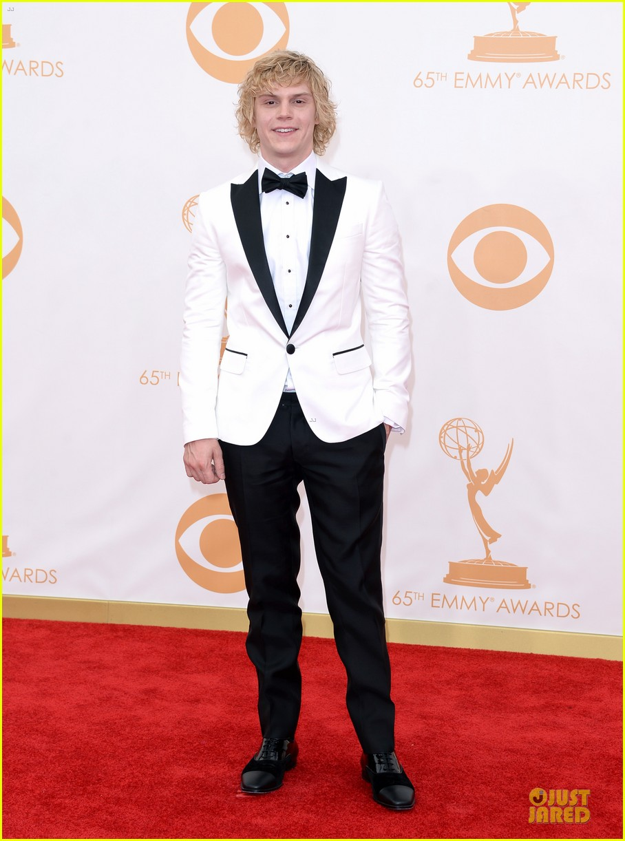 evan peters lily rabe emmys 2013 red carpet 072958025