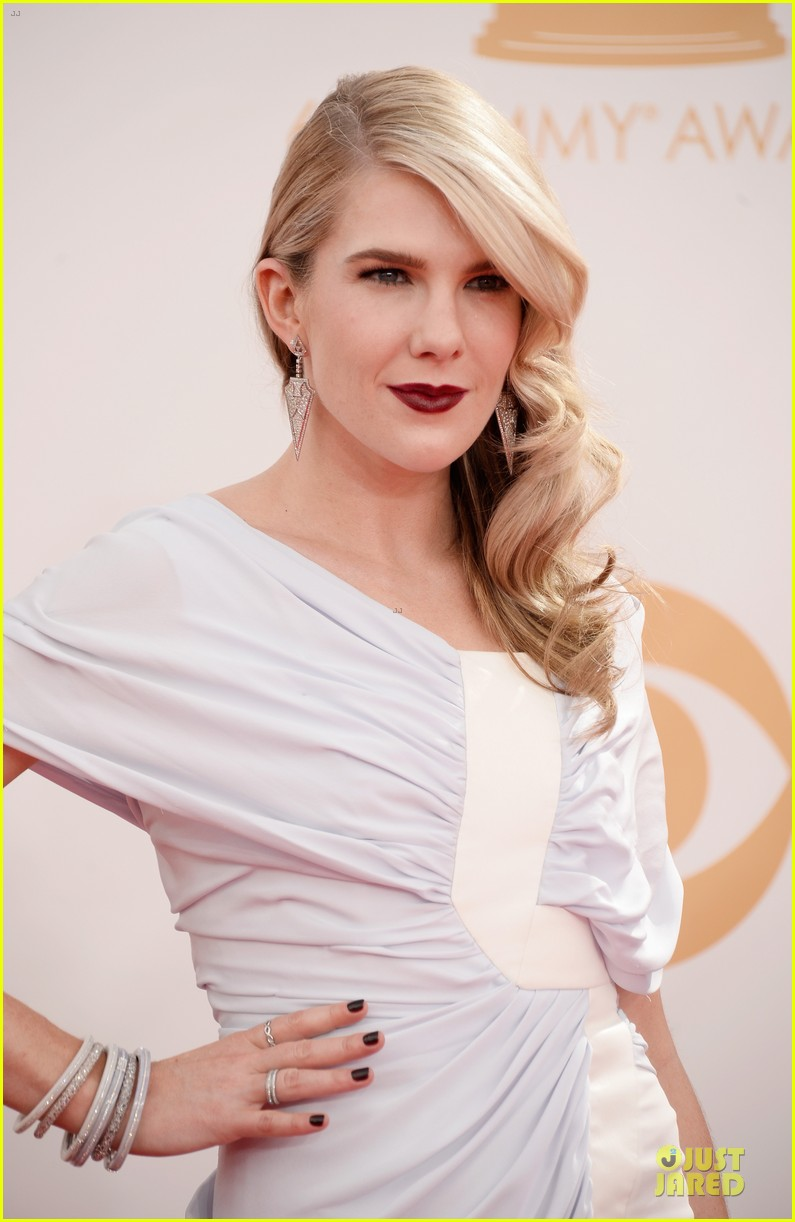 evan peters lily rabe emmys 2013 red carpet 082958026