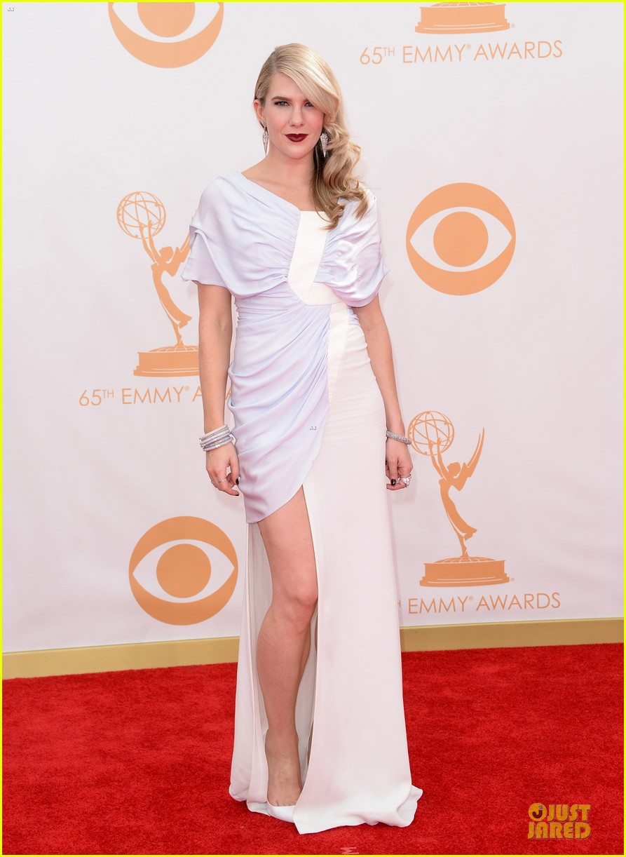 evan peters lily rabe emmys 2013 red carpet 092958027