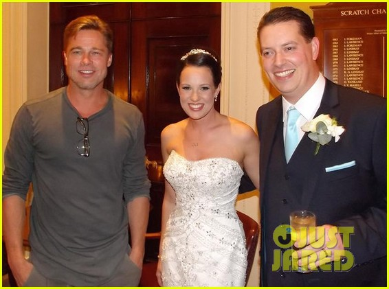 brad pitt crashes wedding in britain see the pic 012954195