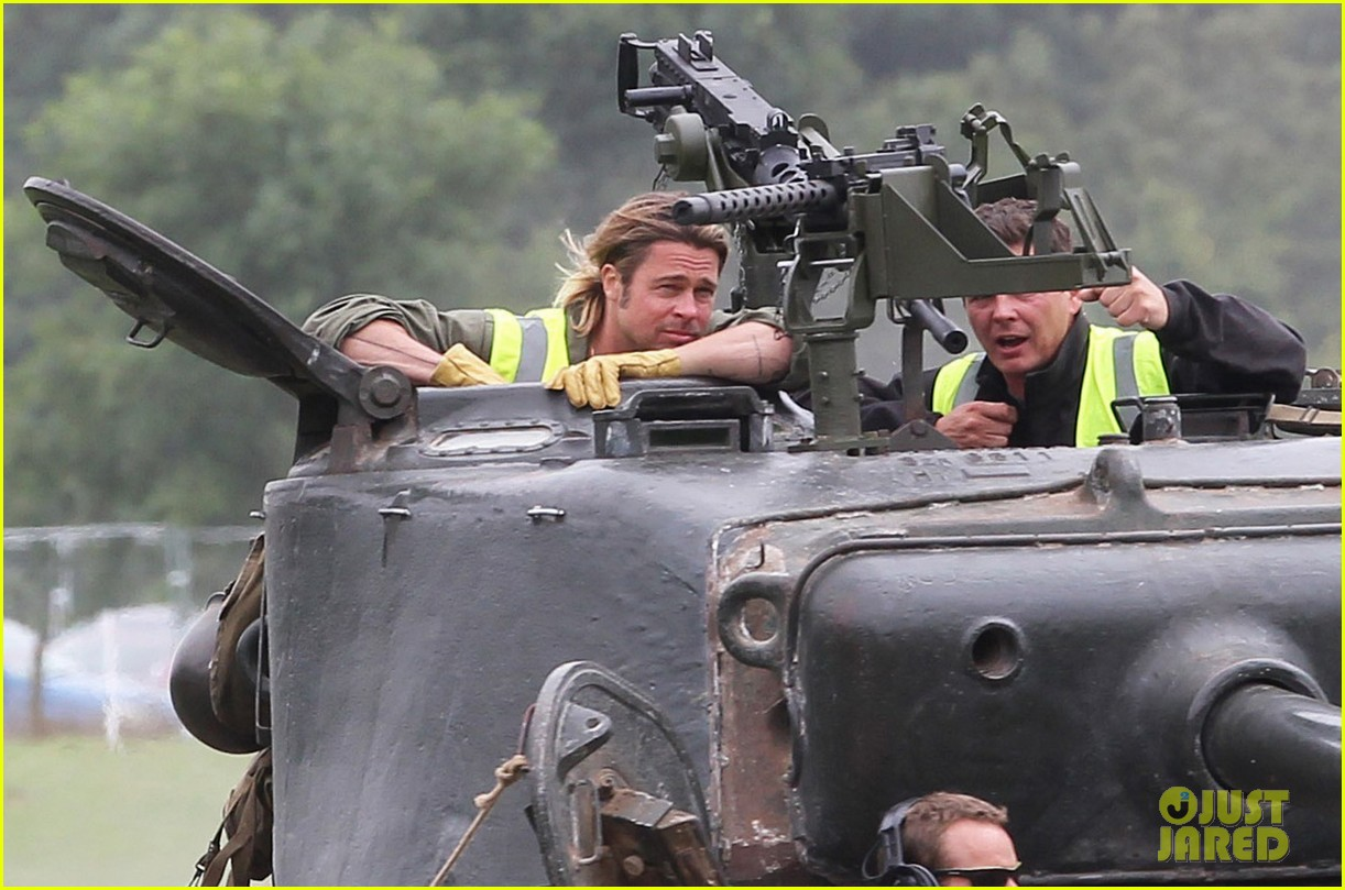 brad pitt films fury in english countryside 012944682