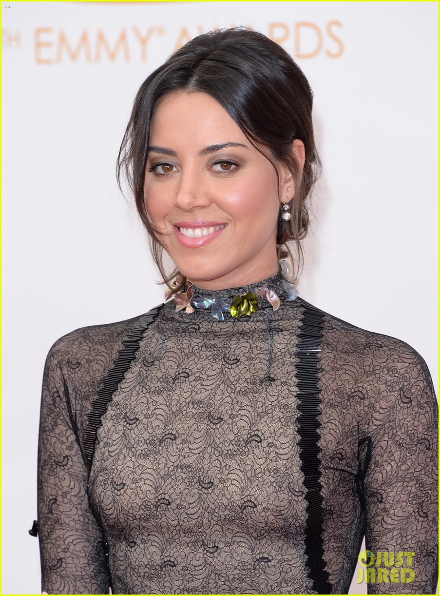 aubrey plaza emmys 2013 red carpet 042957953