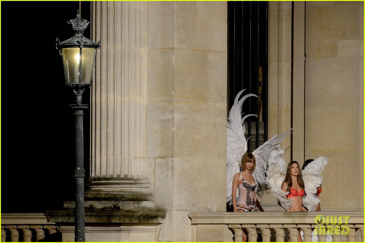 behati prinsloo lily aldridge vs angels louvre shoot 122954561